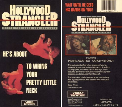 hollywood strangler meets the skid row slasher vhs front & back