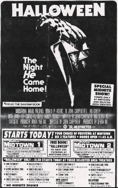 John Carpenter's Halloween Newspaper Ad