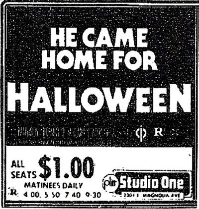 ad Halloween 1978 Studio One Matinee